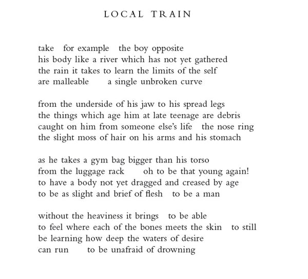 POEM OF THE DAY: ANDREW McMILLAN