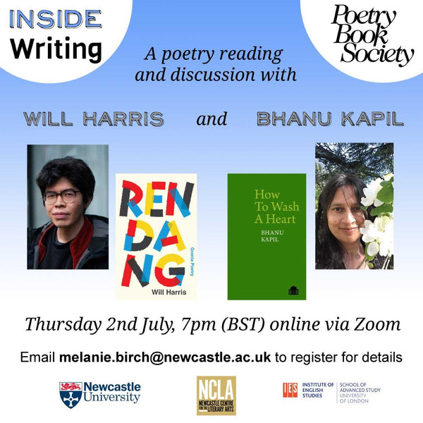 ZOOM LAUNCH: WILL HARRIS & BHANU KAPIL | 2nd JULY