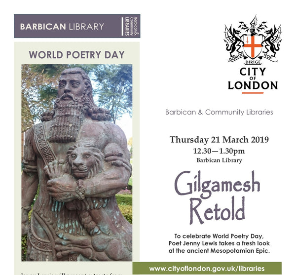 WORLD POETRY DAY EVENTS GILGAMESH