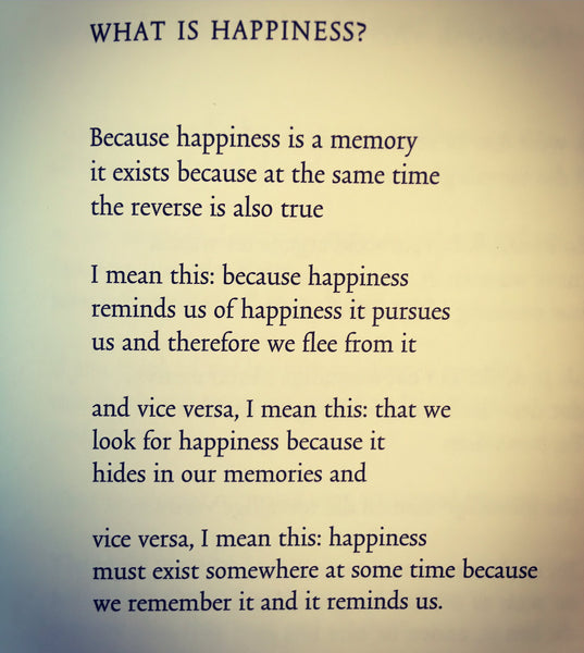 POEM A DAY: WHAT IS HAPPINESS