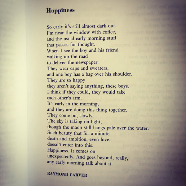 POEM A DAY: HAPPINESS