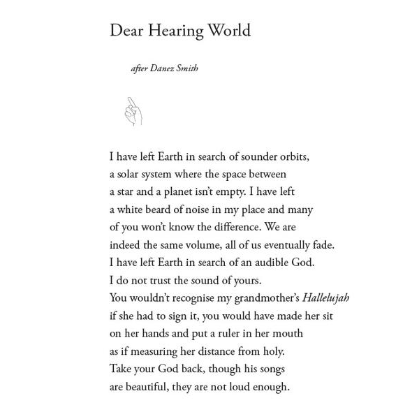 POEM OF THE DAY: DEAR HEARING WORLD