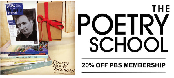 20% off PBS Membership for Poetry School Students