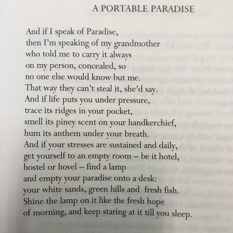 POEM A DAY: A PORTABLE PARADISE