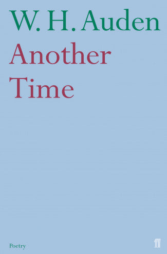 Another Time By Wh Auden