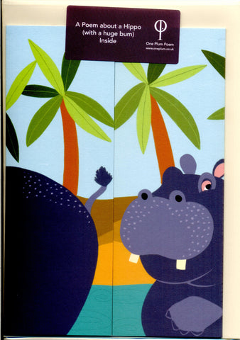 Hippopotamus Poetry Card for Children
