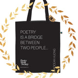 Poetry Quote Tote Bag