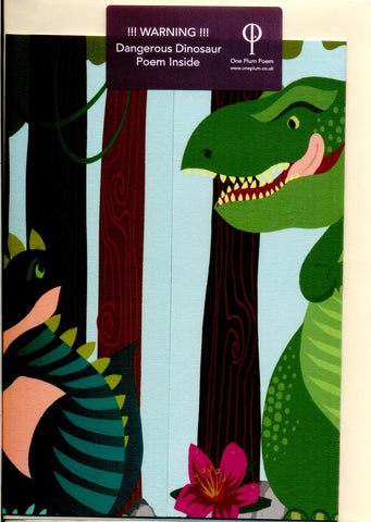 Dinosaur Poetry Card for Children