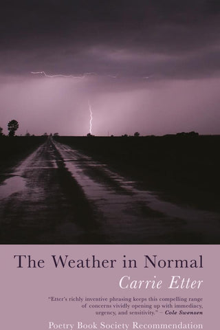 The Weather in Normal by Carrie Etter <br><b>PBS Winter Recommendation 2018 </b>