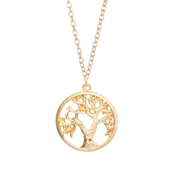 Gold tree of life necklace pandablue aloadofball Image collections