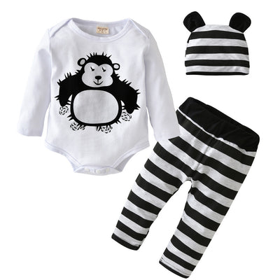 Hairy Gorilla Long Sleeve, Pant & Hat Trio