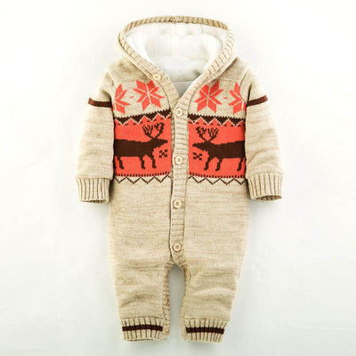 Thick Knitted & Hooded Holiday Rompers