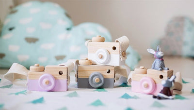 2017 New Wooden Imagination Play Toy Camera & Decor Piece
