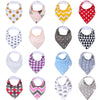 Set of 4 Soft Cotton Baby Bandana Bibs in Designer Prints