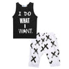 "Spring & Summer ""I do what I want"" Toddler Tee Set"