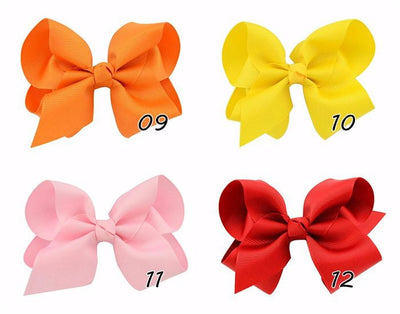 20 Piece Ribbon Hairclip Barette Set
