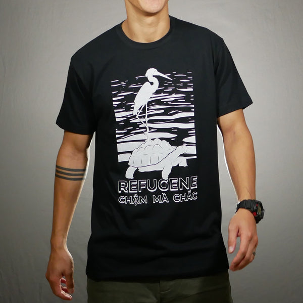 Crane and Tortoise T-Shirt [Black]