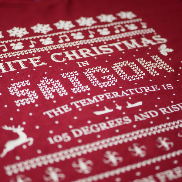 White Christmas Long Sleeve Shirt [Vermillion]