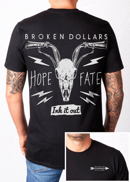 Broken Dollars Black Unisex T-Shirt