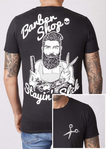 'Barber' Black Unisex T-Shirt T-Shirts - Ink it out