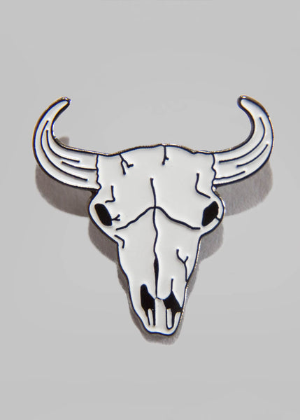 Stag Skull Pin Badge Accessories - Ink it out