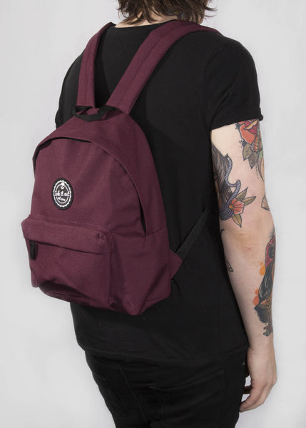 'Signature' Back Pack - Ink it out - Burgundy