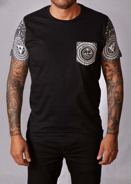 Black Pattern Unisex T-Shirt T-Shirts - Ink it out