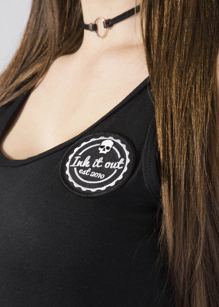 Signature Black Ladies Tank Top Vests - Ink it out