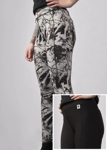 'Signature' Leggings - Black & White - Ink it out
