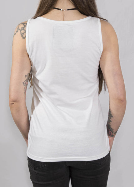 Signature White Ladies Tank Top Vests - Ink it out
