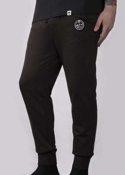 'Signature' Skinny Joggers - Black - Ink it out
