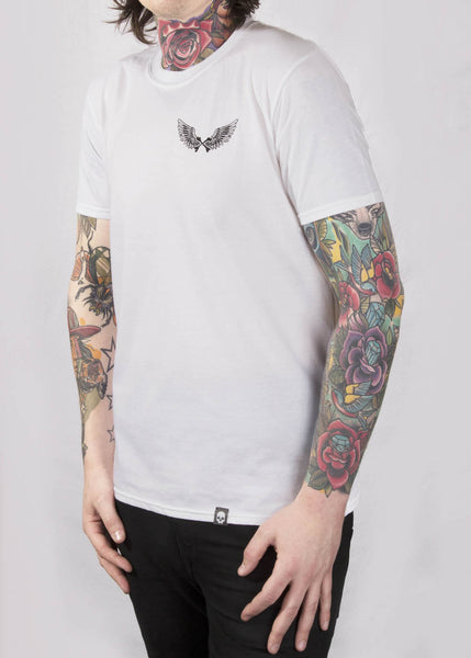 'Drifter' White Unisex T-Shirt T-Shirts - Ink it out