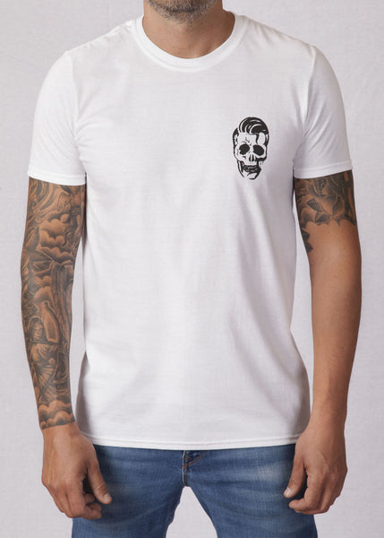 'Greaser' White Unisex T-Shirt T-Shirts - Ink it out