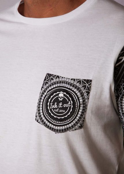 White Pattern Unisex T-Shirt T-Shirts - Ink it out