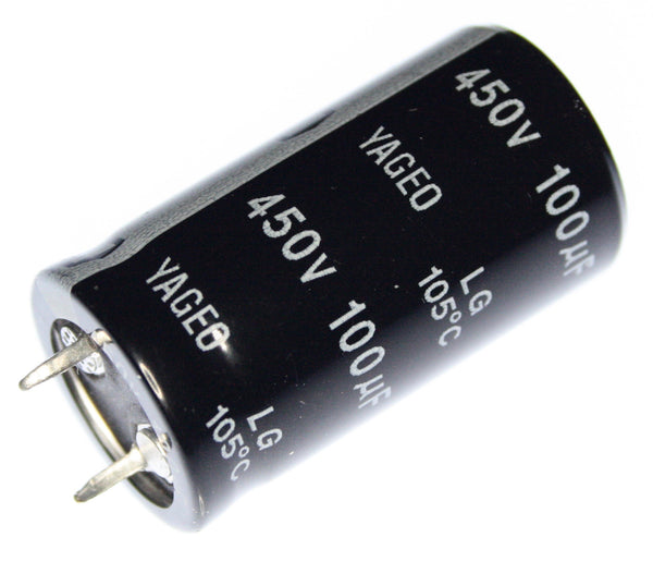 100UF 450V 105°C Snap-In Capacitor (22x41mm) - Spared Parts UK