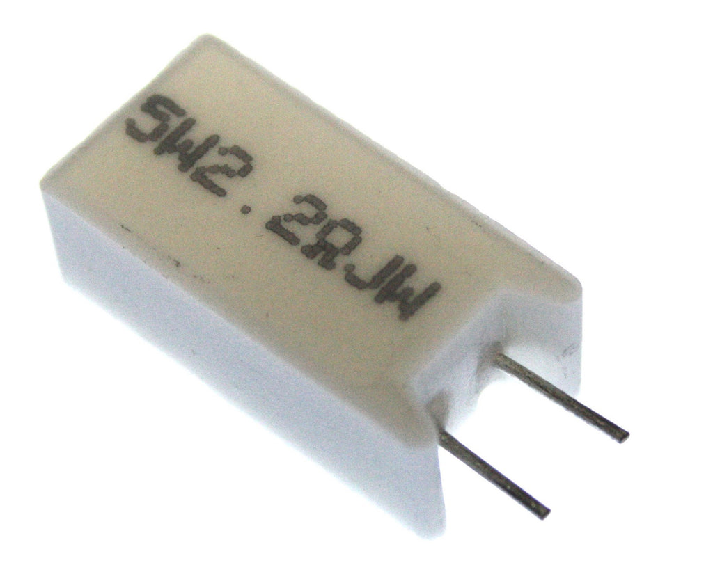 2.2OHM 5W / 2R2 5W 350V Wirewound Resistor - Spared Parts UK