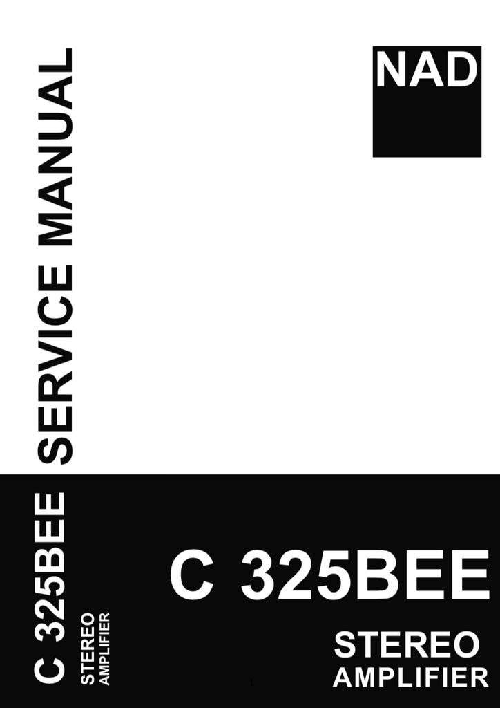 NAD C325BEE Service Manual Complete