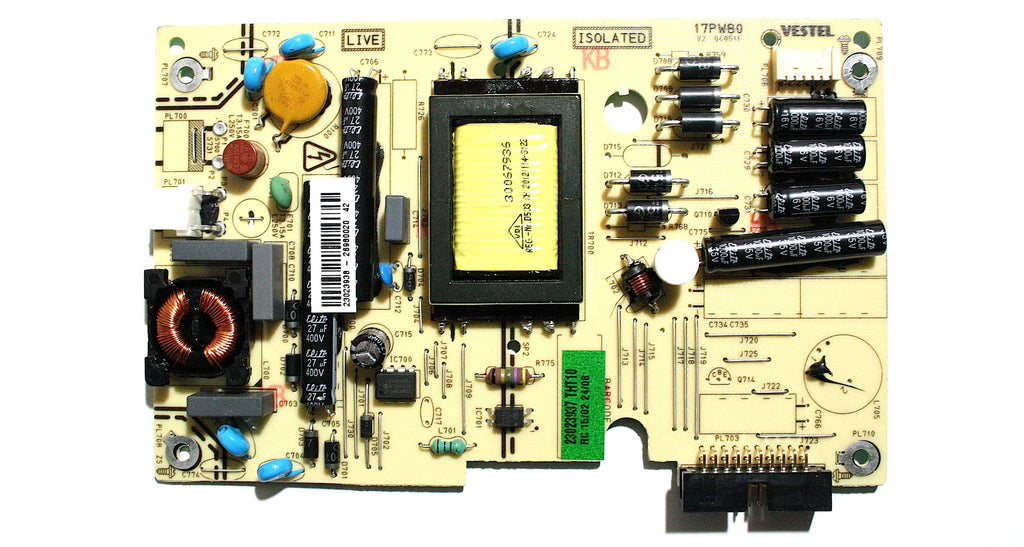 Toshiba 17PW80 Power Supply Board 23023938