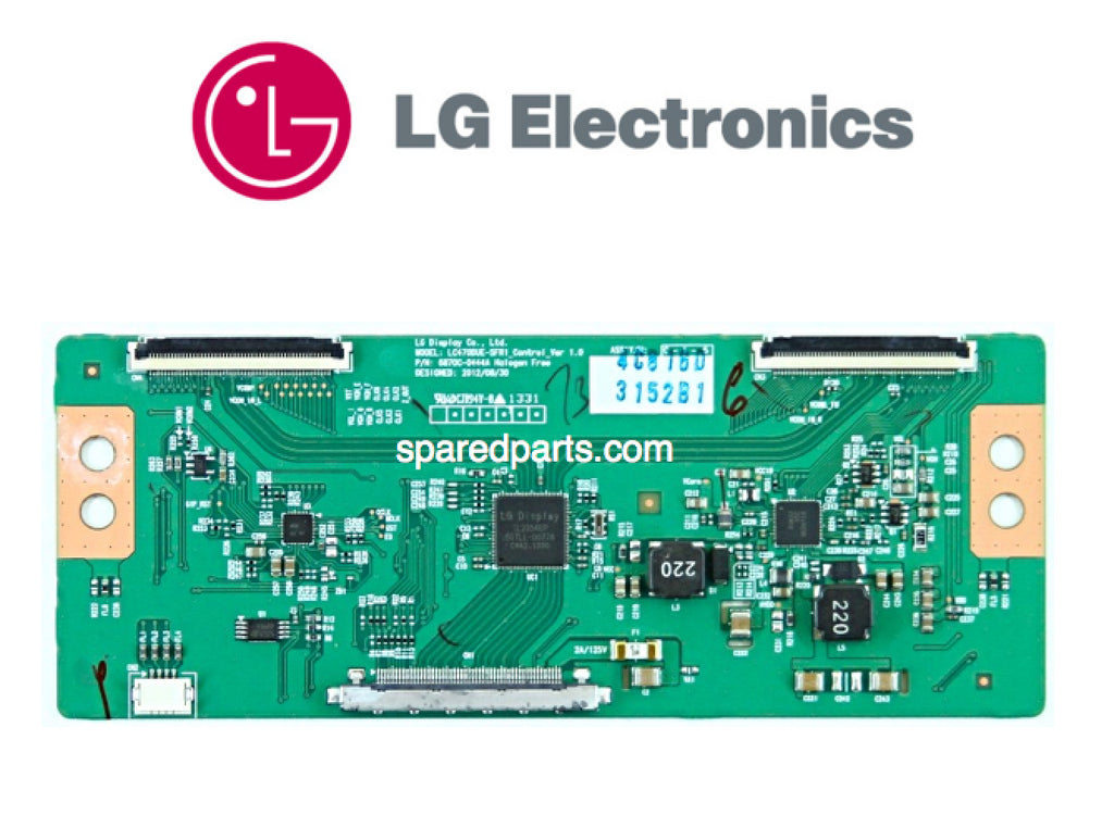 LG 6870C-0444A  LC470DUE-SFR1 T-Con Board - Spared Parts UK