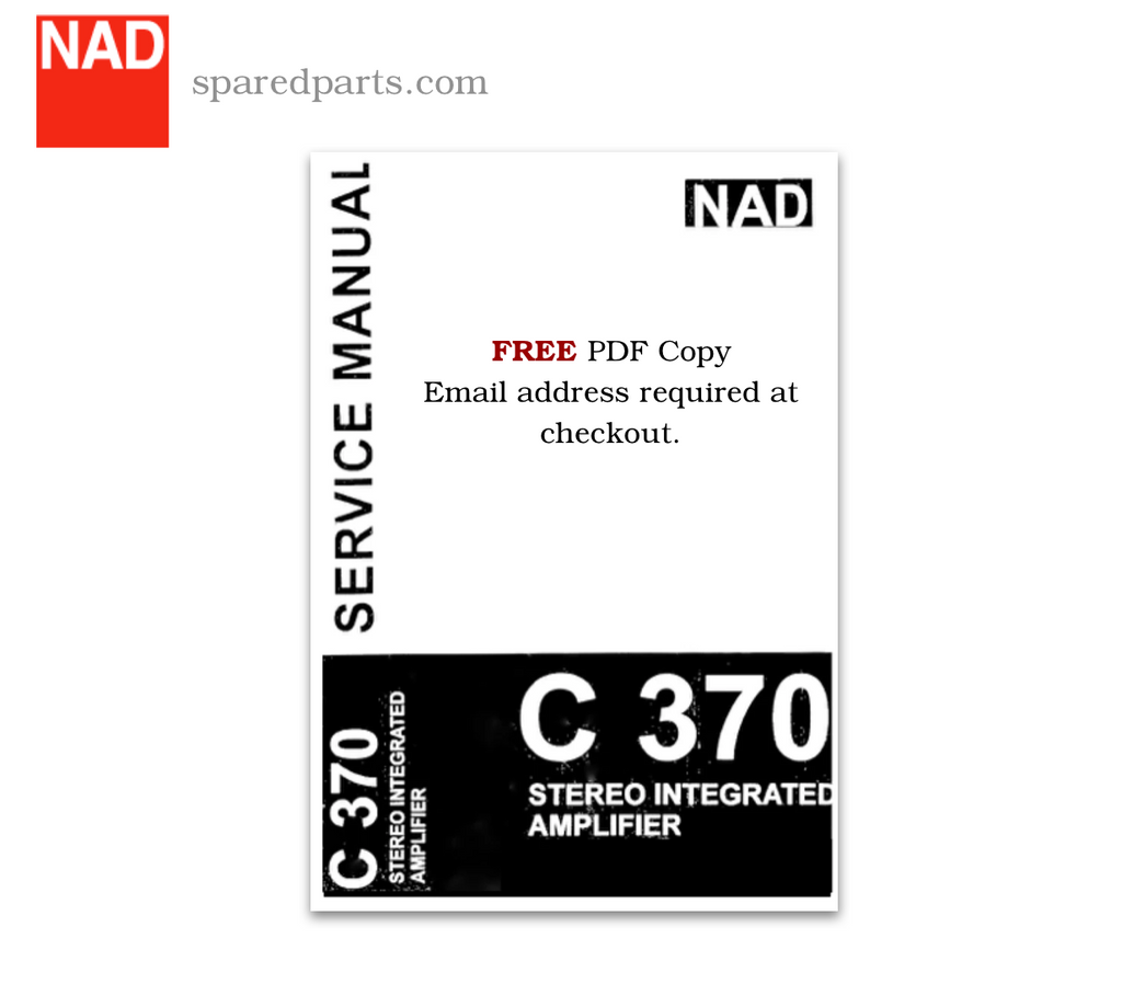 NAD C 370 Protection Circuit Polymer Capacitor Kit