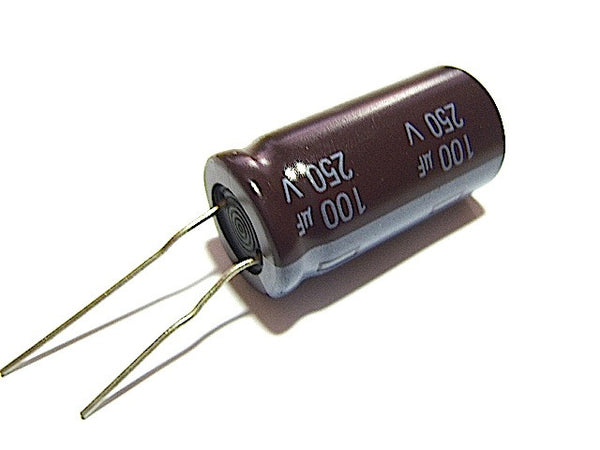 100UF 250V Radial-Electrolytic 105-Degree (16x32mm) - Spared Parts UK
