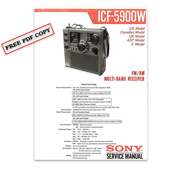 sony service manuals free download