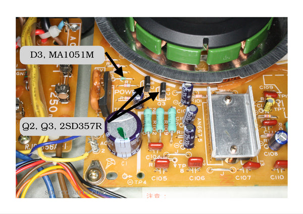 Technics SL-1200 SL-1210 Power Regulation Repair Kit