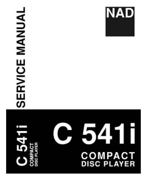 NAD C541i Service Manual Complete - Spared Parts UK