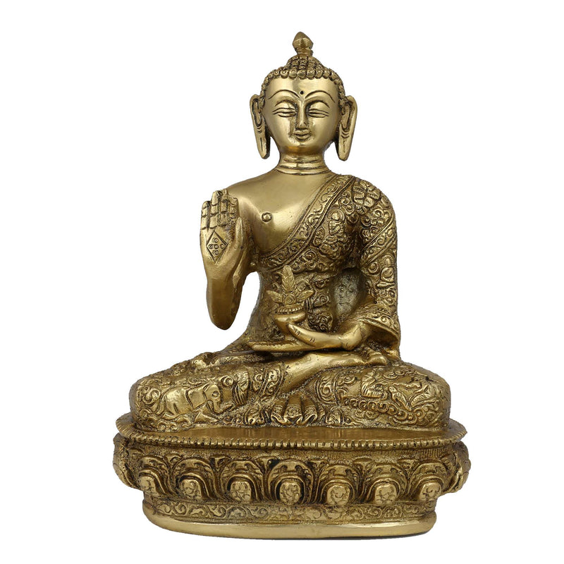 Protection Buddha Statue Buddhism Decor Buddhist Gifts 9 Inches