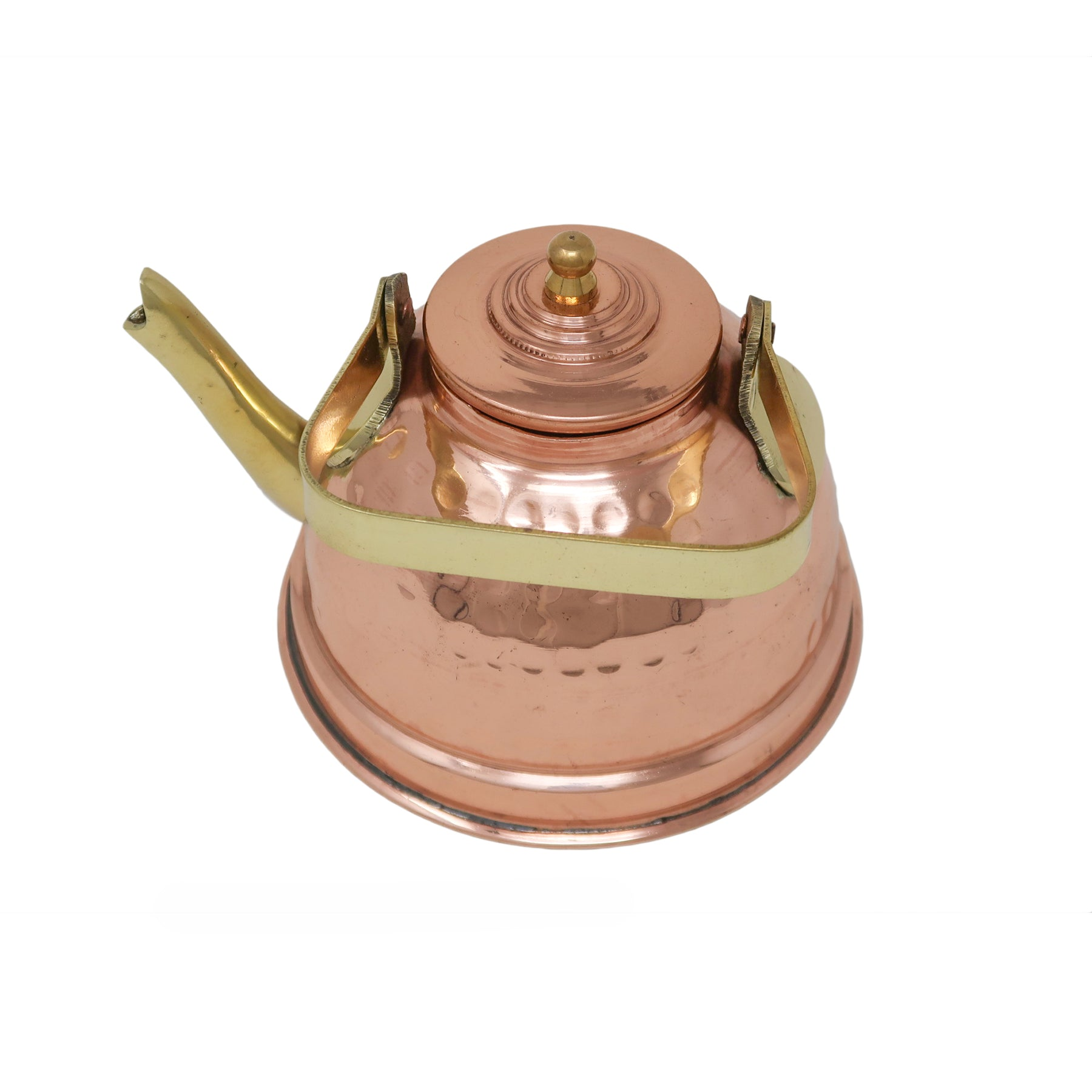 Copper Kettle For Warming Water Tea And Coffee Traditional Indian Kitchen Utensils Capacity 550 Ml