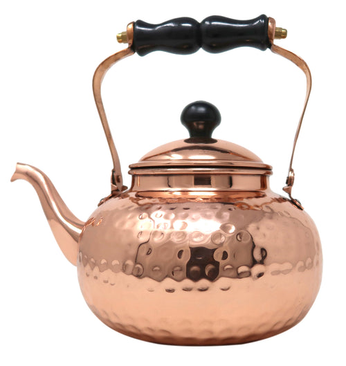 Copper Kettle For Warming Water Tea And Coffee Traditional Indian Kitchen Utensils Capacity 2100 Ml