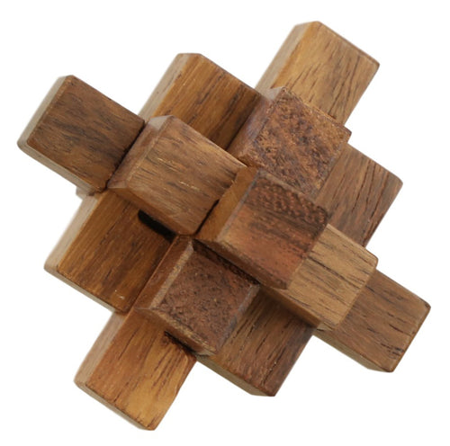 ShalinIndia Handmade Wooden Crystal IQ Teaser Puzzle - 3D Magic Games for Children - Unique Kids Gifts,2.25 Inch