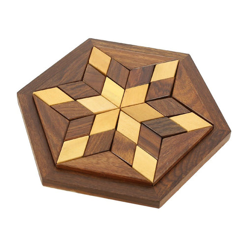 Wholesale Products Corporate gifts for men and women 100 units of Hexagonal Tangram Puzzle