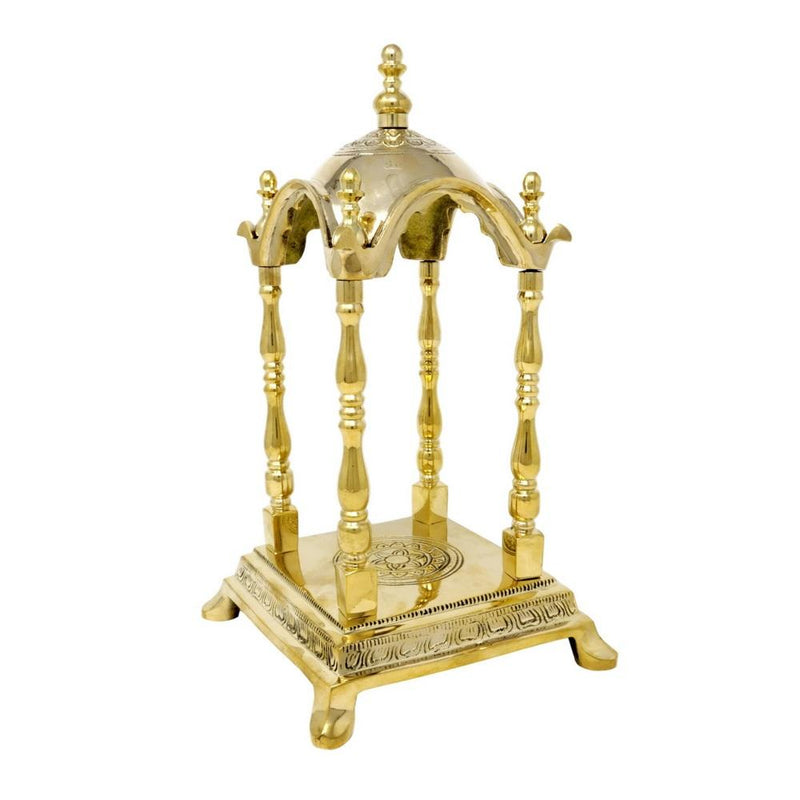 Handcrafted Brass Temple Religious Home Decor It Can Be Dismantled Brass Metal Gift 10X6X6 Inch Pooja Mandir Decoration 2.29 Kg